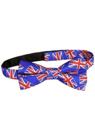 Union Jack silk bow tie NEW
