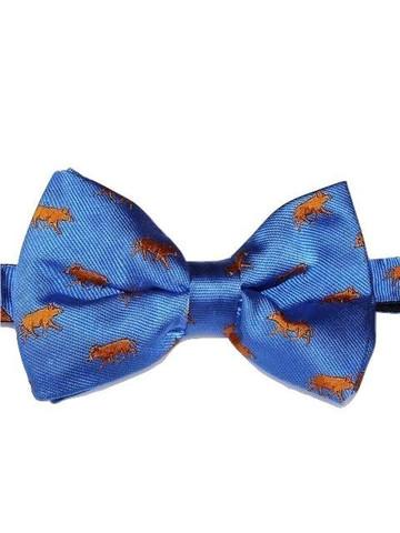 Wild boar theme bow tie