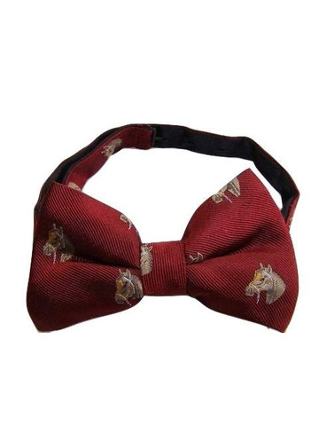Horse theme silk bow tie