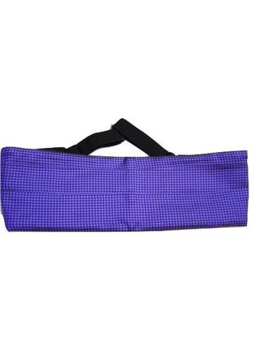 Mens purple silk cummerbund