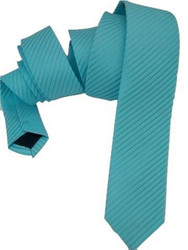 Mint green skinny tie