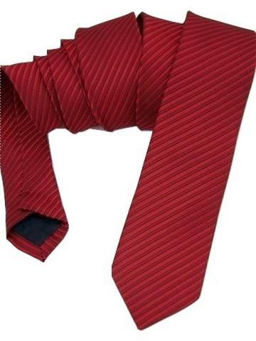 Red skinny tie