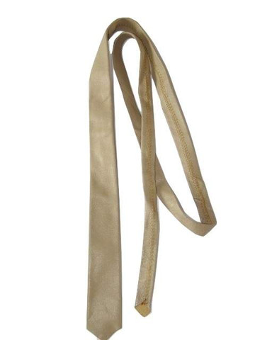 Beige leather tie