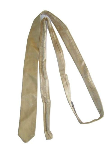 Mens beige leather tie
