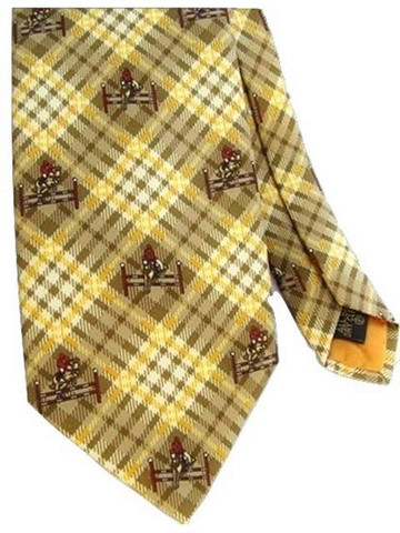 Equestrian themed silk tie