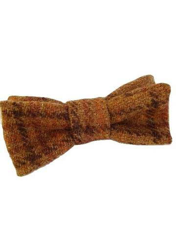 Ginger tweed bow tie