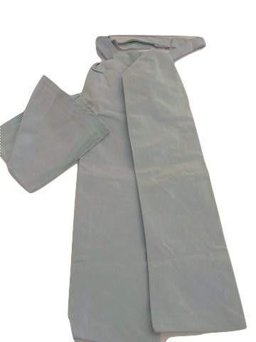 Green blue wedding cravat and hanky set