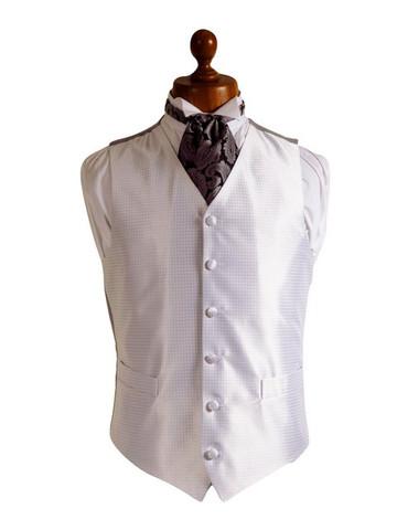 Silver cream wedding waistcoat