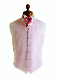 Pink wedding waistcoat