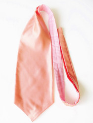 Peach wedding cravat