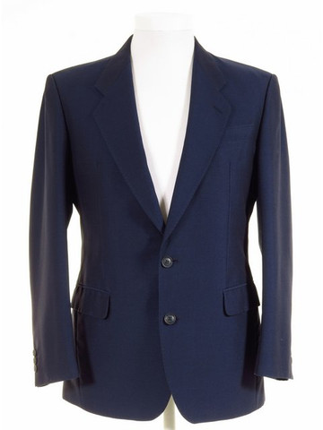 Blue mohair tonic suit jacket