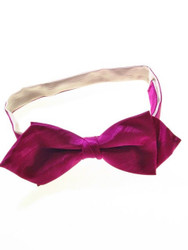 Pink moire silk bow tie