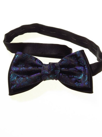 Double layer bow tie paisley