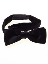 Navy blue batwing bow tie