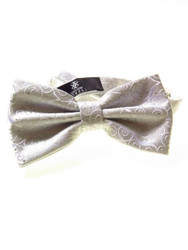 Silver sparkly bow tie