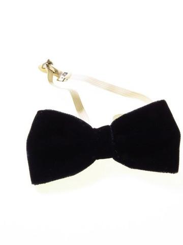 Small navy velvet bow tie