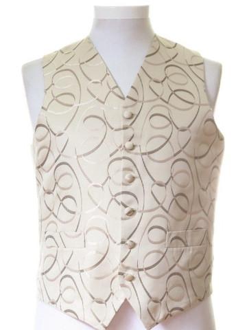 Brown gold wedding waistcoat
