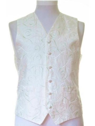 Ivory mint green wedding waistcoat
