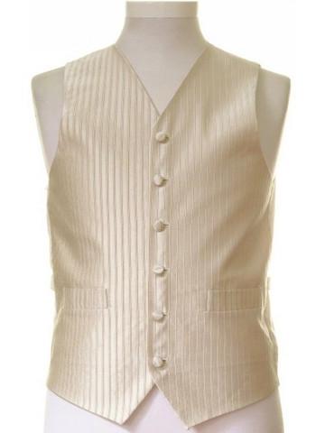 Pale gold stripe wedding waistcoat