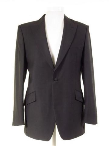 Dark grey slim fit suit jacket