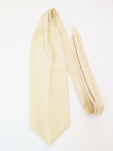 Light gold wedding cravat