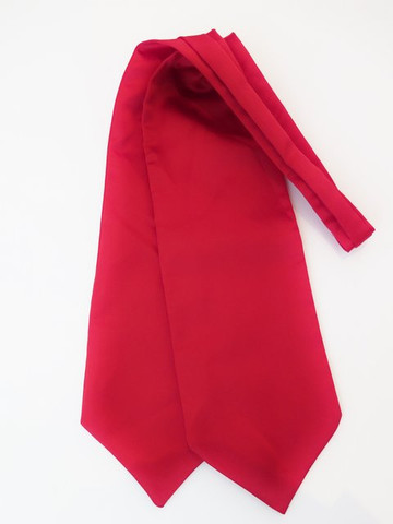 Red satin wedding cravat