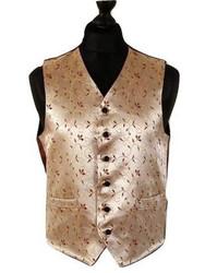 Gold wine wedding waistcoat