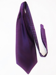Purple wedding cravat