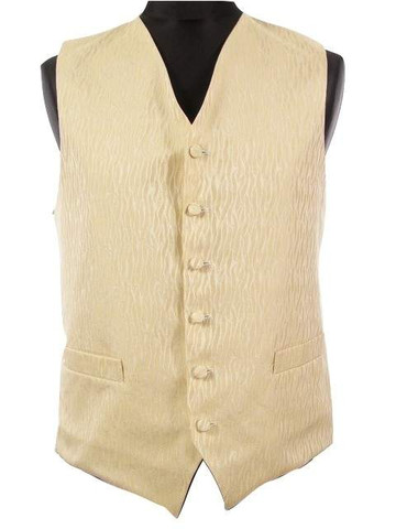 Mens gold wedding waistcoat