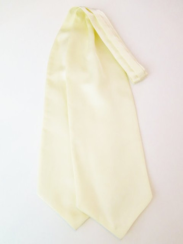 Pastel yellow wedding cravat