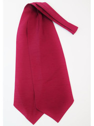 Wine red wedding cravat