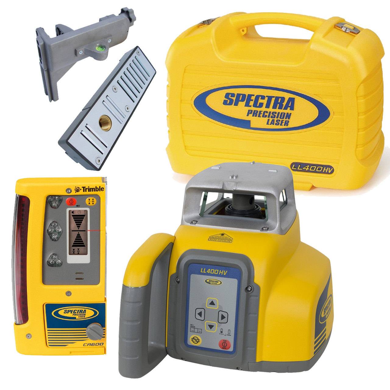 Spectra Precision Ll400hv 10 Laser Package With Cr600