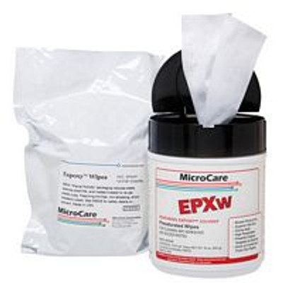 "MicroCare ExPoxy Chip-Bonder Cleaner, Presat Wipe Refill, 100 8""x5"""