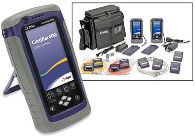 JDSU Certifier40G Cat6A Cable Certifier & MM/SM Fiber Tester Kit