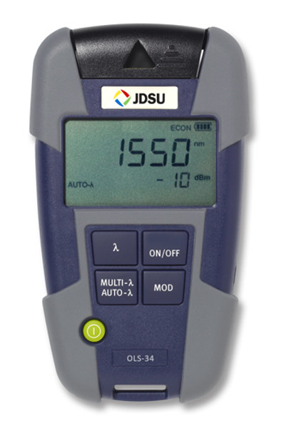 OLS-36 JDSU 2303/22 Quad SM/MM Fiber Optic Laser Light Source-FC
