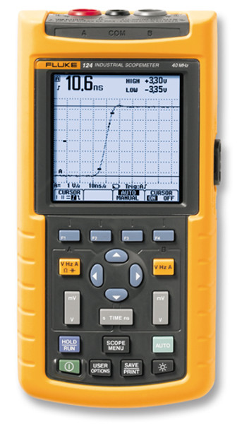 Fluke 124/003 Scopemeter 40MHz Oscilloscope - Calibrated