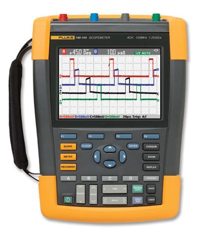Fluke 190-204/AM/S ScopeMeter Ser II Oscilloscope 200MHz 4Ch SCC