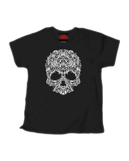 A Skull Named Sugar - Kid Rockers Children's Tee Shirt Clothing (Black)