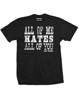 All Of Me Hates All Of You - Mens Tee Shirt Aesop Originals Clothing (Black)