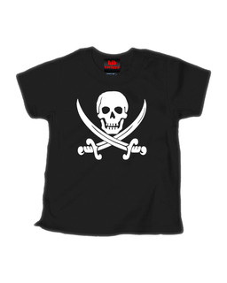 Jolly Roger - Kid Rockers Children's Tee Shirt Clothing (Black)