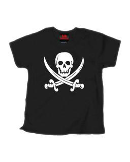 Jolly Roger - Kid Rockers Children's Tee Shirt Clothing (Black)
