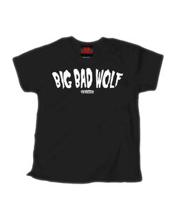 BIG BAD WOLF - Kid Rockers Children's Tee Shirt Clothing (Black)