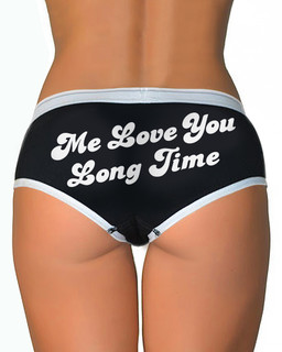 Me Love You Long Time - Boy Brief Underwear Aesop Originals Clothing (Black)