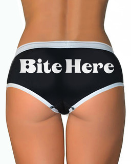 Bite Here - Boy Brief Underwear Aesop Originals Clothing (Black)