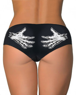 Zombie Squeeze - Booty Shorts Underwear Aesop Originals Clothing (Black)