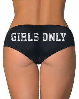 Girls Only - Booty Shorts Underwear Aesop Originals Clothing (Black)