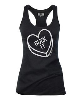 Suck It Sweetheart - Tank Top Aesop Originals Clothing (Black)