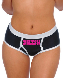Delish in Pink Ink (Front) - Boy Briefs Underwear Aesop Originals Clothing (Black)
