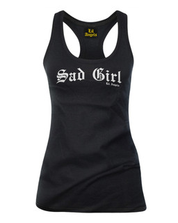 Sad Girl - Tank Top Lil Angels Clothing (Black)