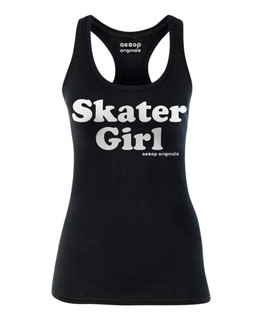 Skater Girl - Tank Top Aesop Originals Clothing (Black)